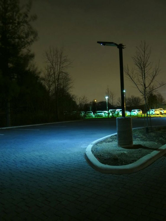 wireless parking lot driveway solar light