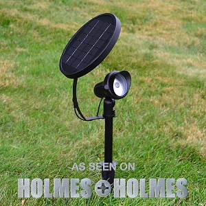Solar Spotlight - SPOTLIGHT. All Night Light Where You Need It.