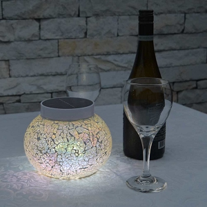 Solar Table Light - CAPRI White. Night Time Sparkle Around Your Patio.