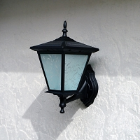 Solar Wall Light - Black