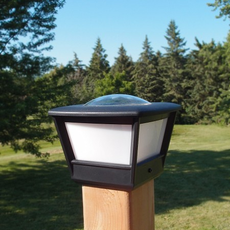 "COACH4 Solar 3.5 + 4"" Fence Post Light(2pcs). Reliable, long lasting solar post cap light"