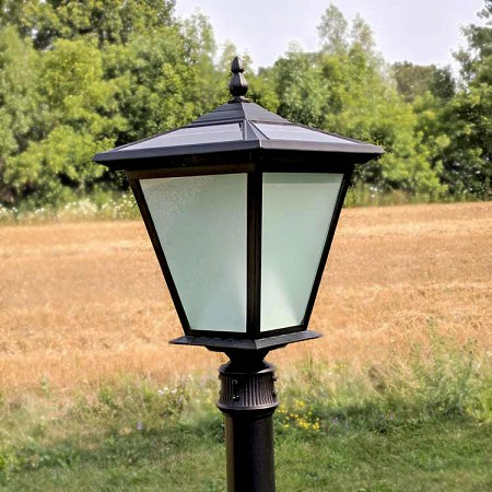 GALAXY PLUS Solar Post Mount Light - on for 10 hours with 30' of illumination