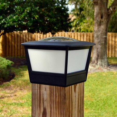"COACH PLUS 6x6"" Solar Wood Fence & Gate Post Cap Light."