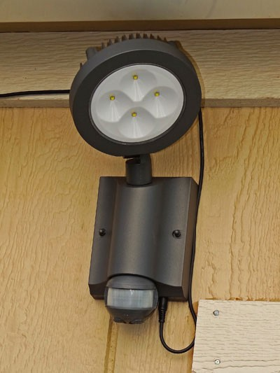 SENTINEL Bright Solar Security Light. Solar Security Light for Door Ways, Garage and Cabins.