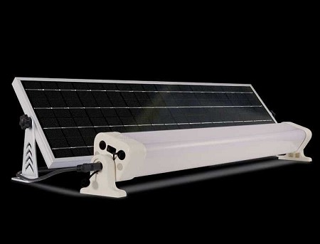 The WORK Light Solar Kit - INDOOR & Outdoor Solar Light includes remote control and wall mount switch